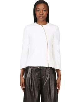 Ivory Neoprene Tafari Zip Jacket
