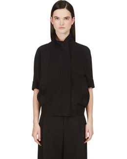 Black Dolman Sleeve Jacket