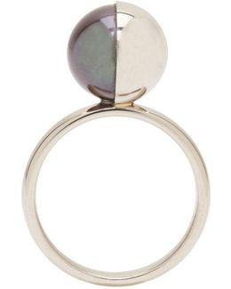 White Gold Peacock Pearl Tasaki Edition Ring