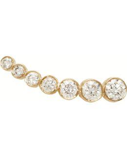 Gold Petit Croissant De Lune Single Earring