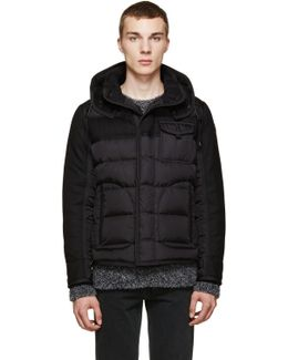 Ryan Nylon & Wool Hooded Puffer Jacket