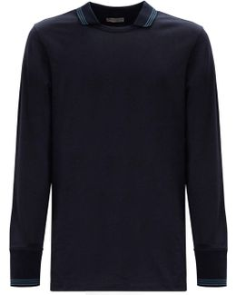 Cotton Long Sleeved Polo Shirt