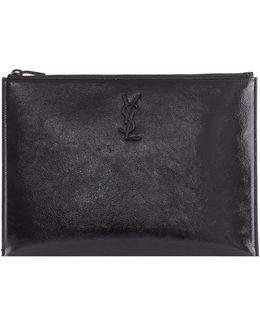 Patent Leather Tablet Holder