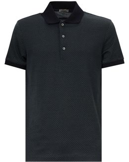 Paterned Cotton Polo Shirt