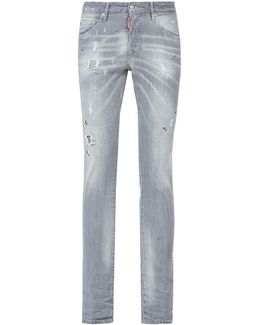 Skinny Washed Distressed Jeans