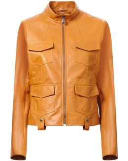 Front Pocket Leather Jacket