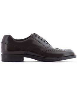Rubber Sole Leather Oxford Shoes