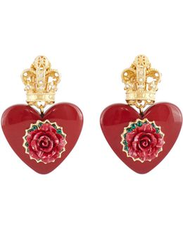 Heart Clip On Earrings