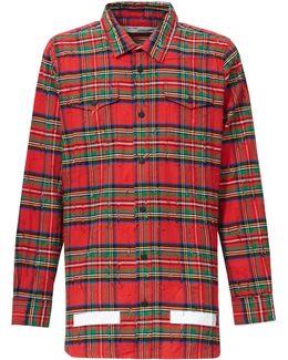 Distressed Tartan Cotton Shirt