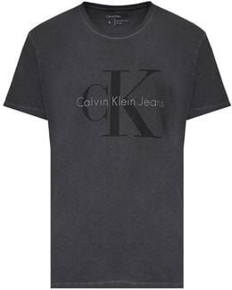 Washed Cotton T-shirt With Logo