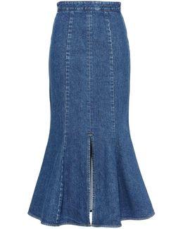 Ivy Organic Cotton Denim Midi Skirt