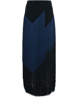 Veronica Black Fringe Skirt
