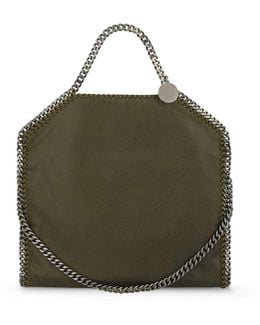 Olive Falabella Shaggy Deer Fold Over Tote