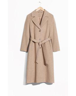 Loose Alpaca Blend Coat