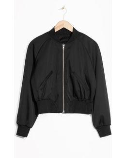 Side Zip Bomber Jacket