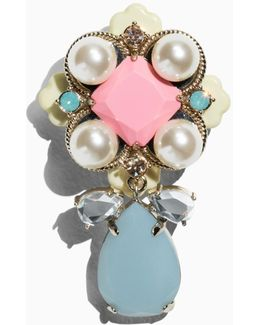 Pearlescent Stone Brooch