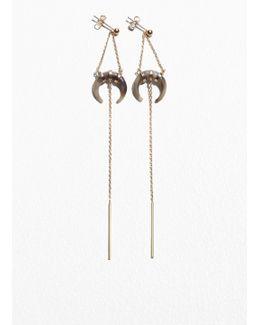 Pending Horn Earrings