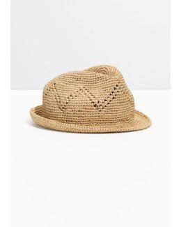 Open Work Fedora Hat