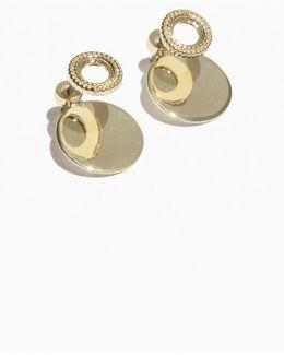 Circle & Plate Earrings