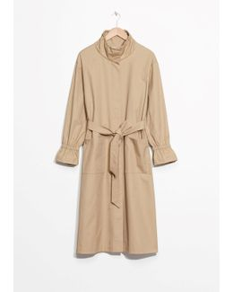Stand-up Collar Trench Coat