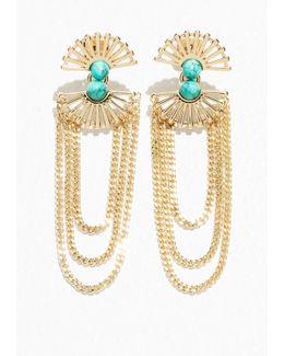 Sun Fan Earrings