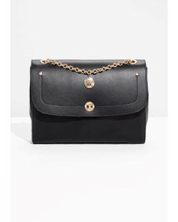 Threaded Chain Leather Shoulder Bag