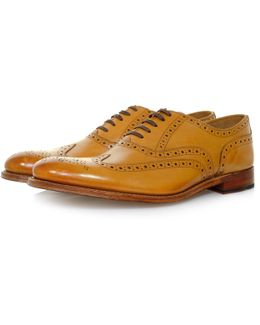 Dylan Tan Brogue Leather Shoe