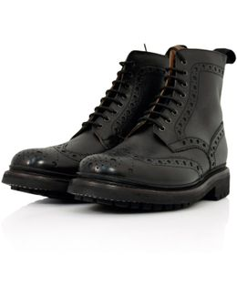 Fred Black Brogue Boot