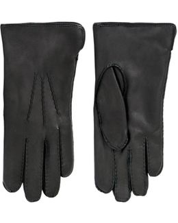 Handsewn Fur Lined Leather Gloves