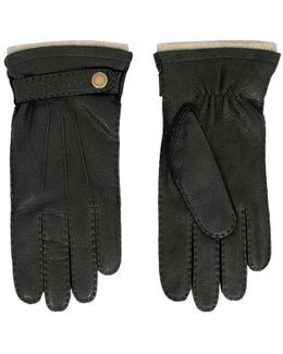 Black Deerskin Gloves
