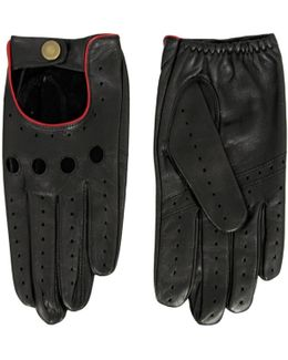 Leather Black Driving Gloves