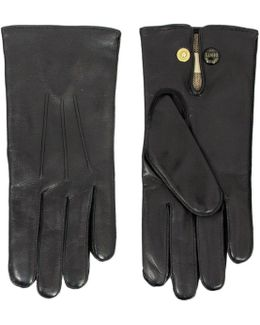 Leather Dress Black Gloves