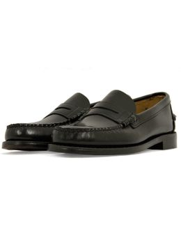 Classic Black Leather Loafer Shoe