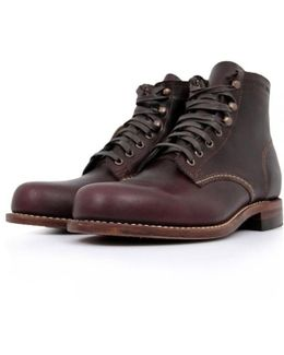 Cordovan Leather Boot