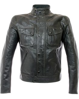 Mick Antique Black Leather Jacket
