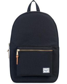 Herschel Supply Settlement Black Canvas Backpack