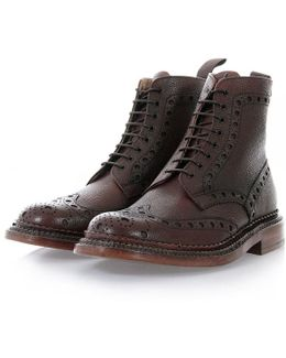 Fred The Triple Welt Brown Brogue Boot