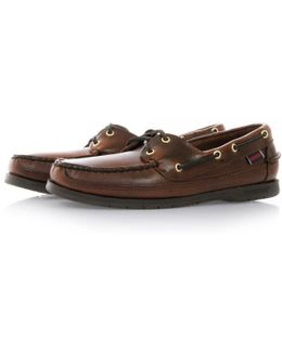 Brown Oiled Waxy Deck Shoes