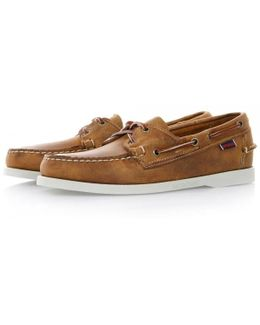 Docksides Brown White Deck Shoes