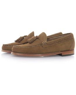 Larkin Velour Mid Brown Suede Loafer Shoes