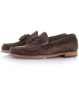 Larkin Velour Dark Brown Suede Loafer Shoes