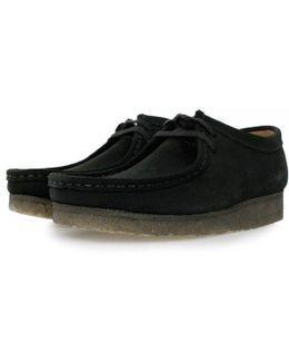 Wallabee Black Suede Shoes