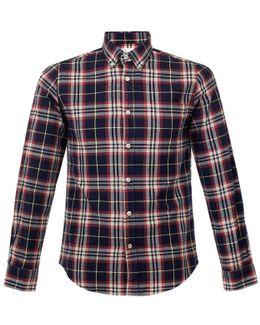 Campanha Check Navy Flannel Shirt