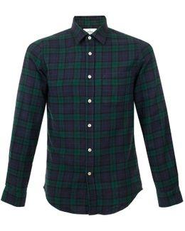 Bonfim Green Check Flannel Shirt