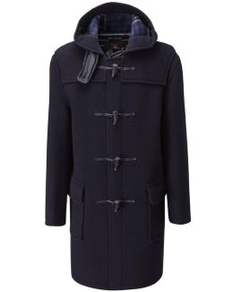512 C Navy Wool Duffle Coat