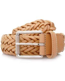 Anderson's Braided Tan Leather Belt Af2984 Pi178