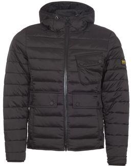Ouston Hooded Quilt Black Jacket