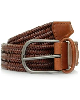 Anderson's Woven Brown Braided Leather Belt A/2915