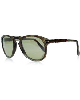 Po0714 Tortoise Green Foldable Sunglasses 0po0714 972/83 | 54