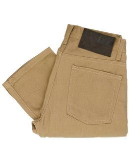 Naked And Famous Weird Guy Tan Beige Selvedge Jeans